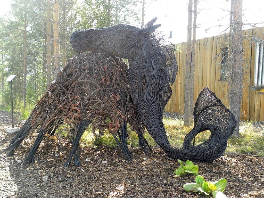 Suomen Kuvanveistäjäliitto järjesti näyttelyn messualueella