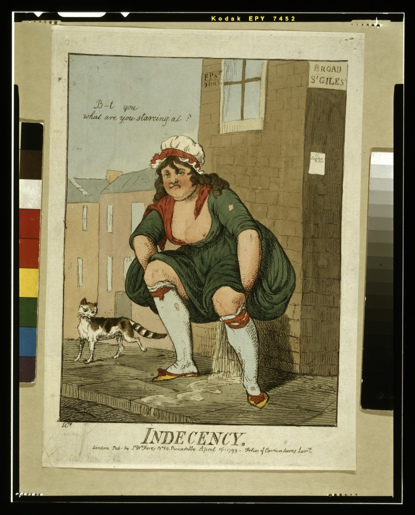 Figure 3. 'Indecency', 1799 engraving by Isaac Cruikshank
