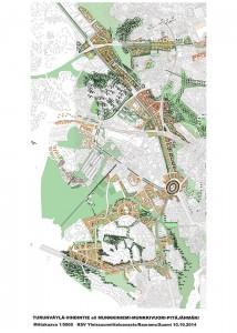 Kuva 1 Havainnekuva Munkkivuoren ympäristöön suunnitelluista muutoksista