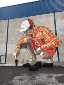 Grafiittitaitelijat koristivat  Kankaan tyhjentyneet tehdashallit vuonna 2014. Halleissa toimii väliaikaisesti liikuntakeskus, joka lopettaa ensi vuonna, kun hallit jyrätään maan tasalle.